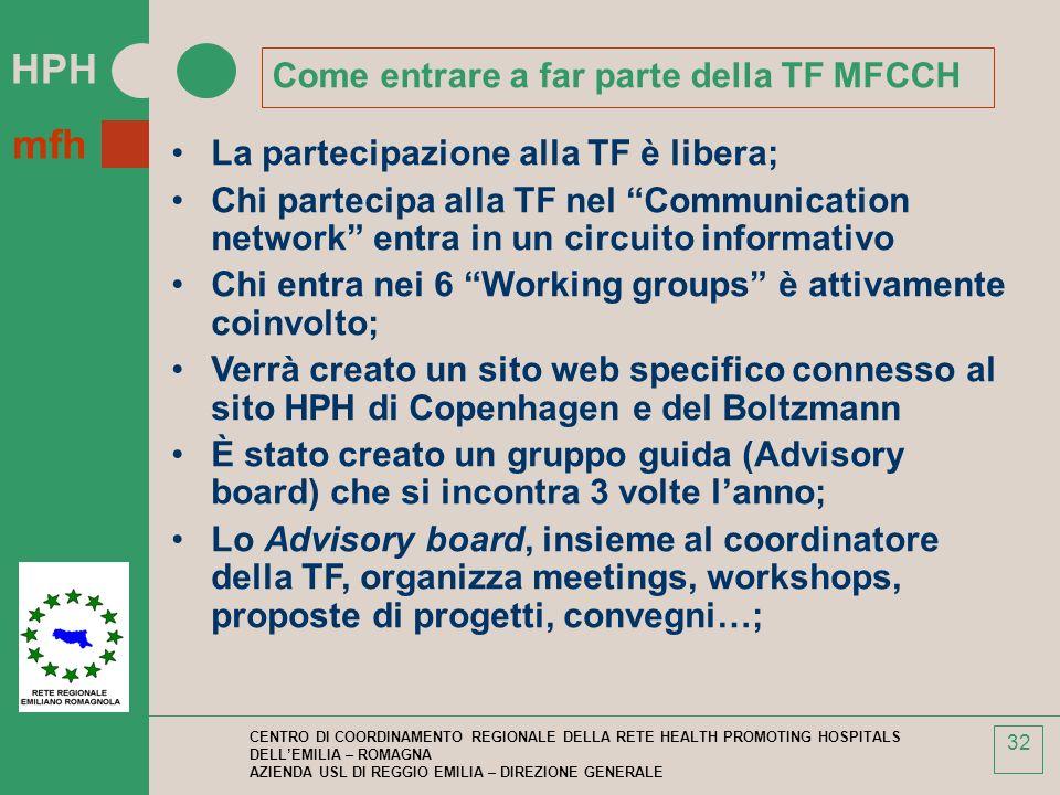 Come entrare a far parte della TF MFCCH