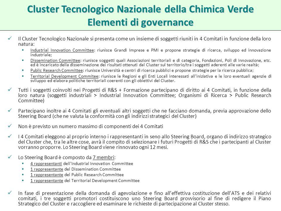 Cluster Tecnologico Nazionale della Chimica Verde Elementi di governance
