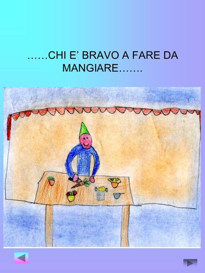 ……CHI E' BRAVO A FARE DA MANGIARE…….