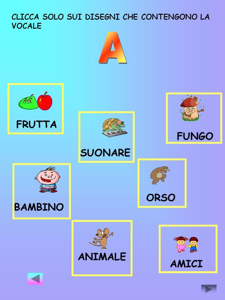 A FRUTTA FUNGO SUONARE ORSO BAMBINO ANIMALE AMICI
