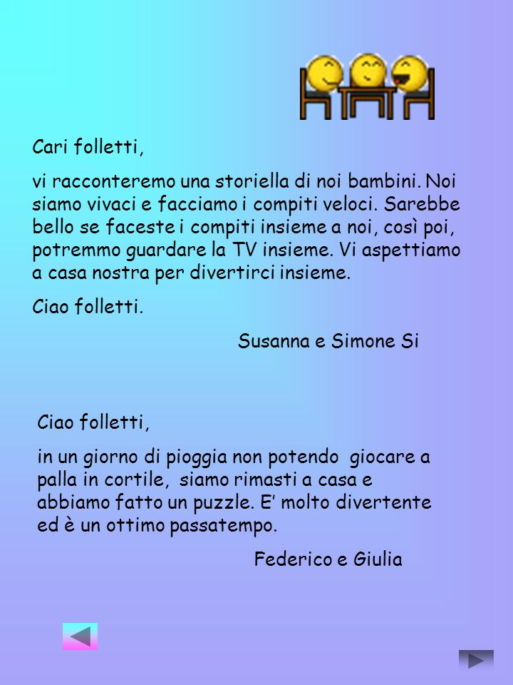 Cari folletti,