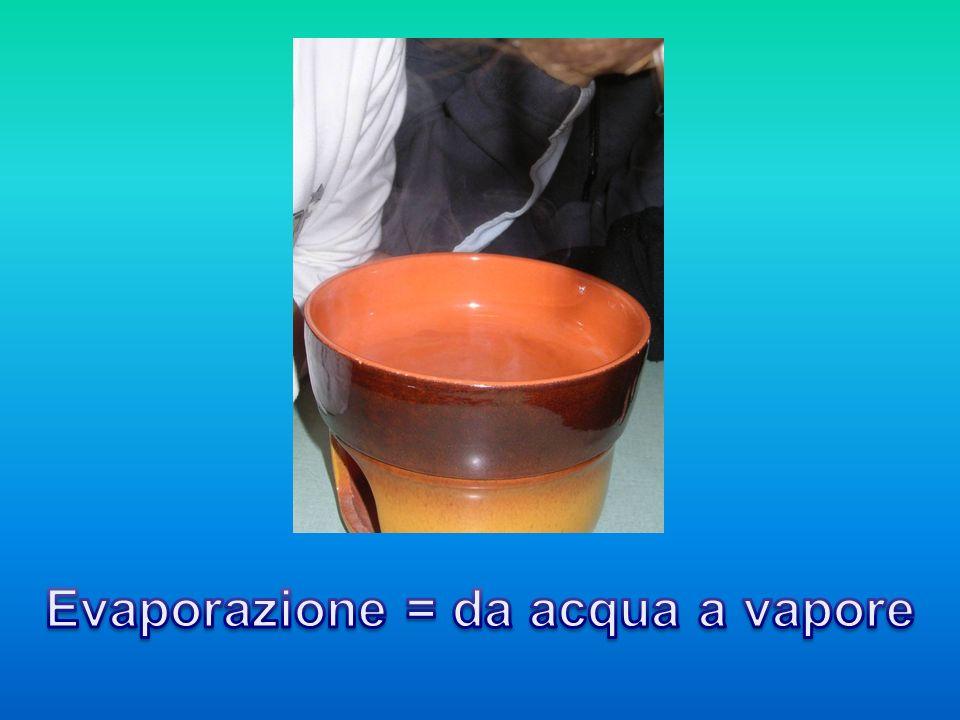 Evaporazione = da acqua a vapore