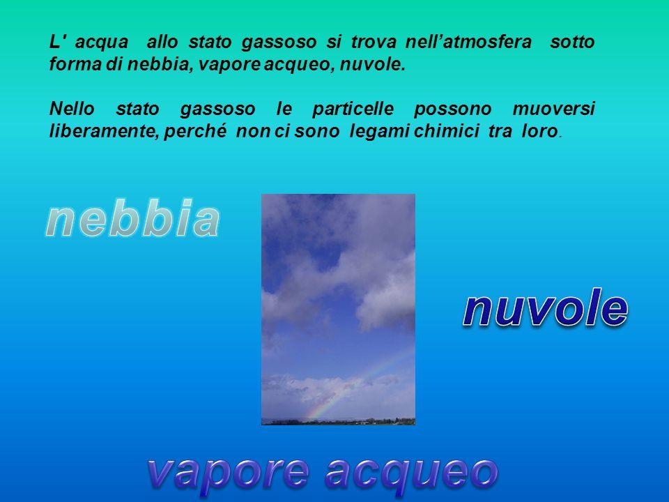 nebbia nuvole vapore acqueo