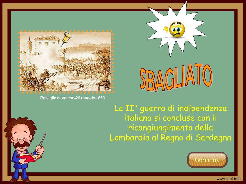 SBAGLIATO Battaglia di Varese-26 maggio 1859.