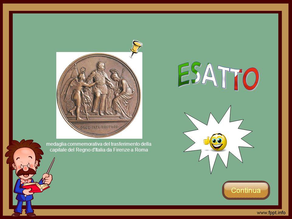 ESATTO medaglia commemorativa del trasferimento della capitale del Regno d Italia da Firenze a Roma