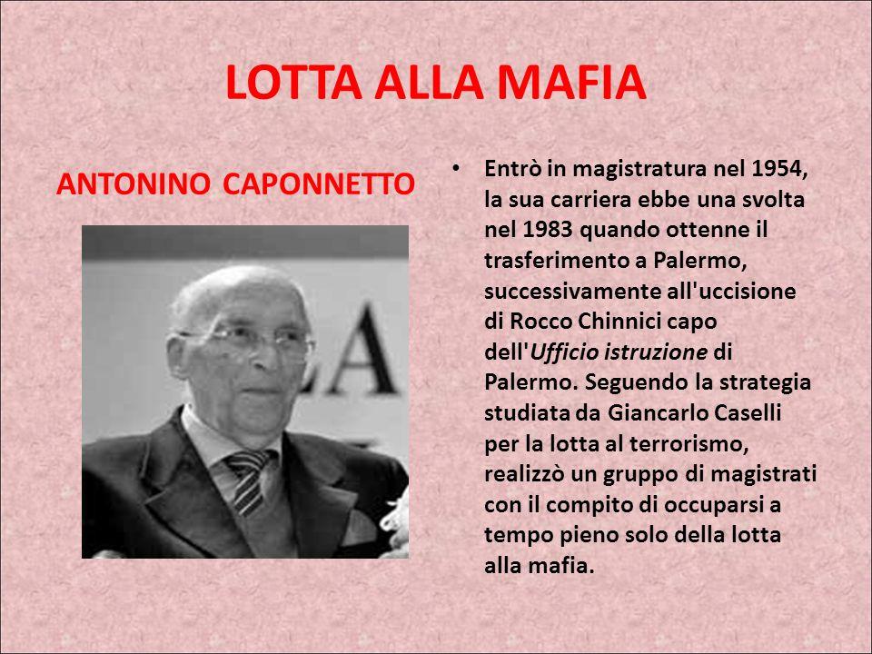 LOTTA ALLA MAFIA ANTONINO CAPONNETTO