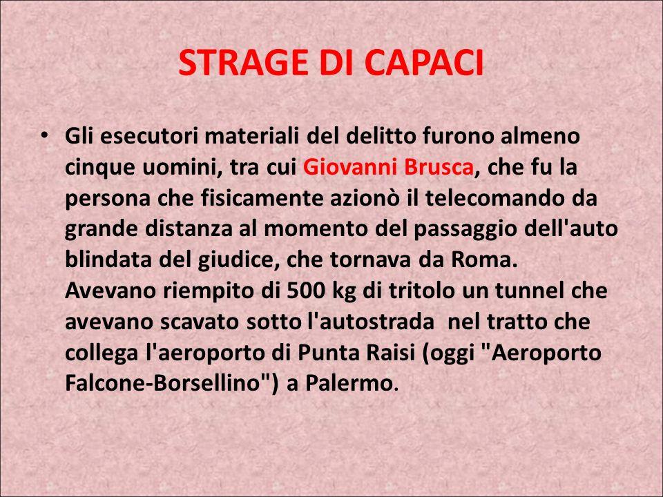 STRAGE DI CAPACI
