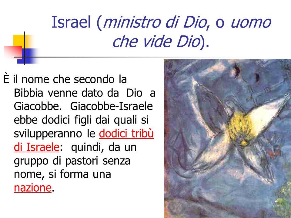 Israel (ministro di Dio, o uomo che vide Dio).