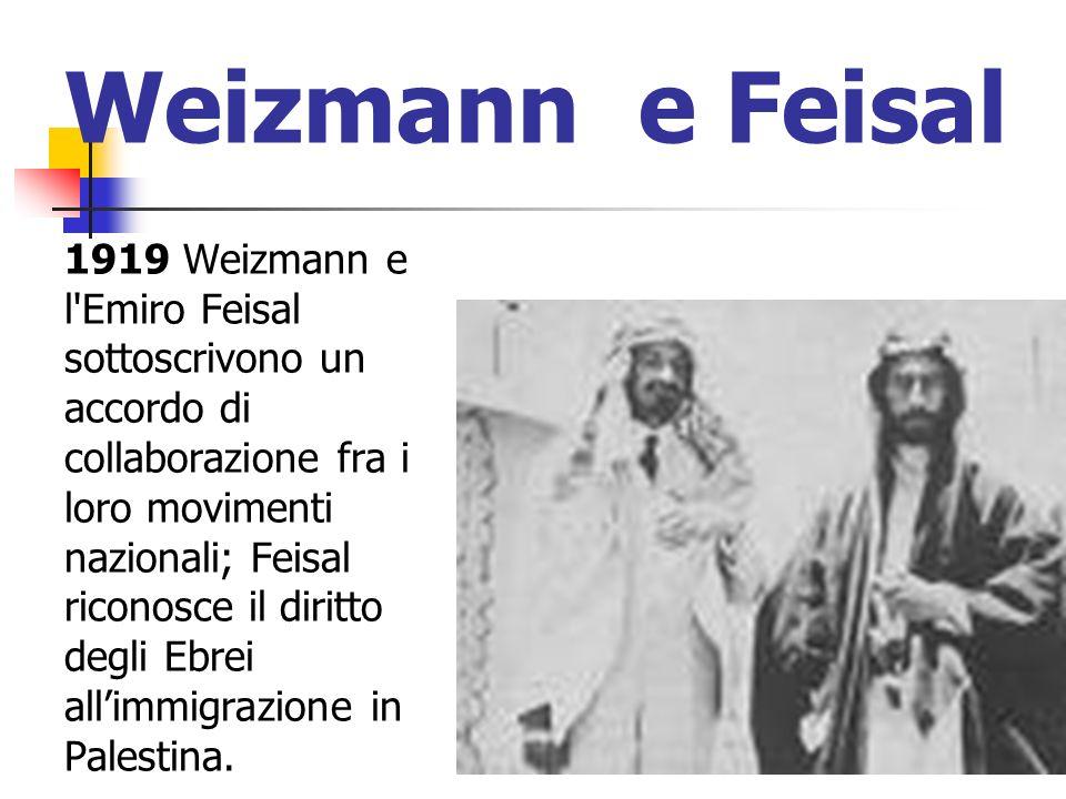 Weizmann e Feisal