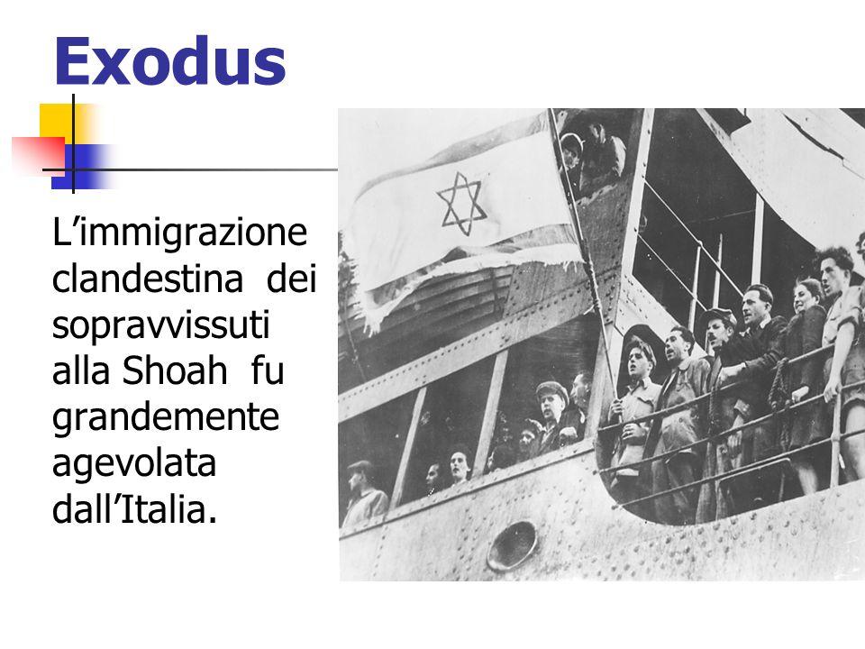 Exodus L'immigrazione clandestina dei sopravvissuti alla Shoah fu grandemente agevolata dall'Italia.
