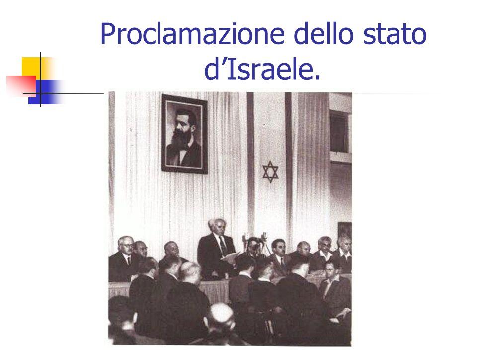 Proclamazione dello stato d'Israele.