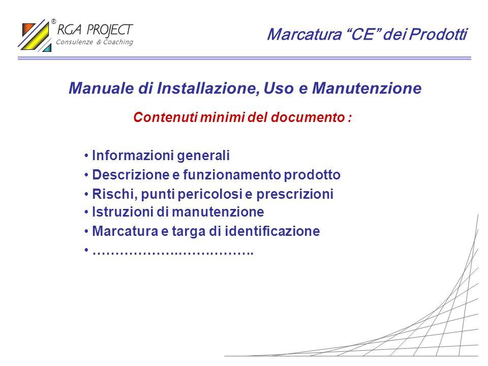 Manuale di Installazione, Uso e Manutenzione