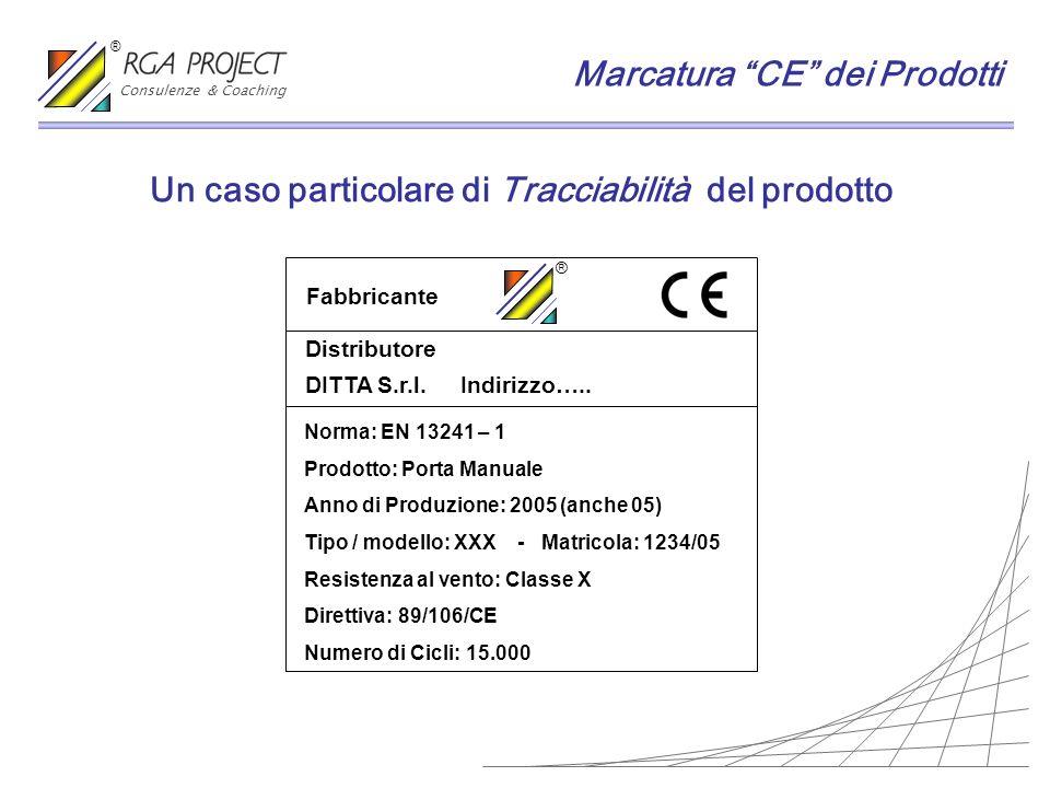 Un caso particolare di Tracciabilità del prodotto