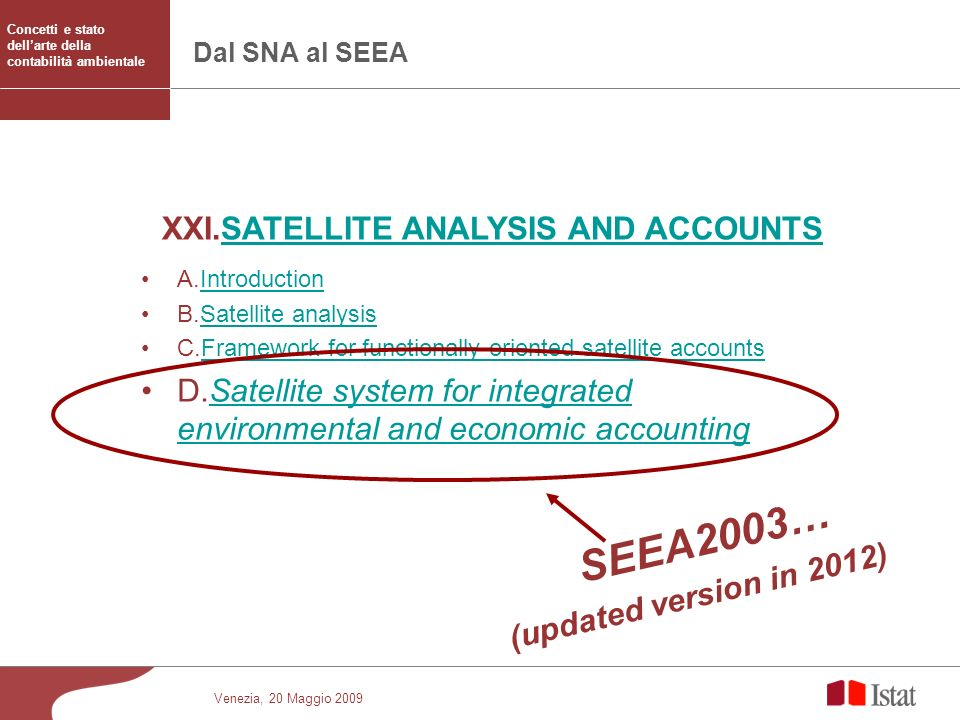 SEEA2003… XXI.SATELLITE ANALYSIS AND ACCOUNTS