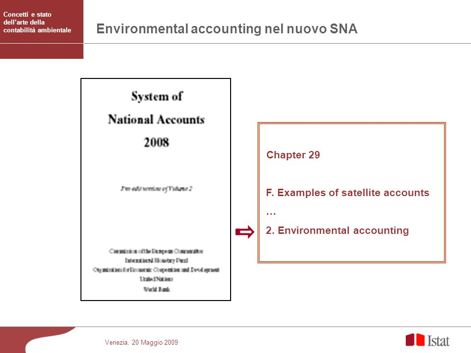 Environmental accounting nel nuovo SNA
