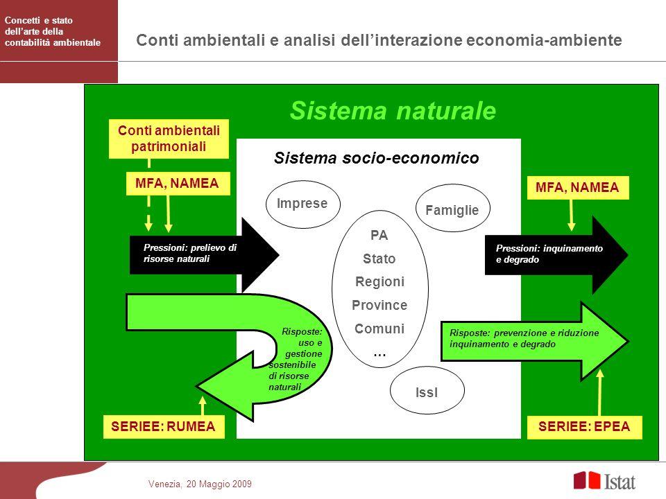 Conti ambientali e analisi dell'interazione economia-ambiente