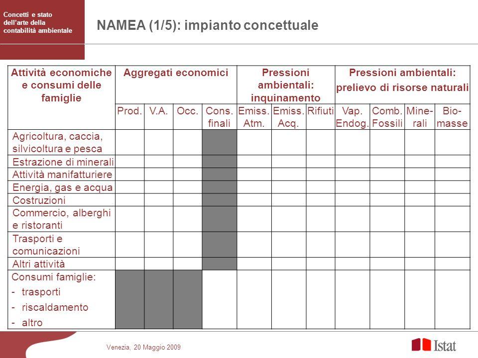 NAMEA (1/5): impianto concettuale