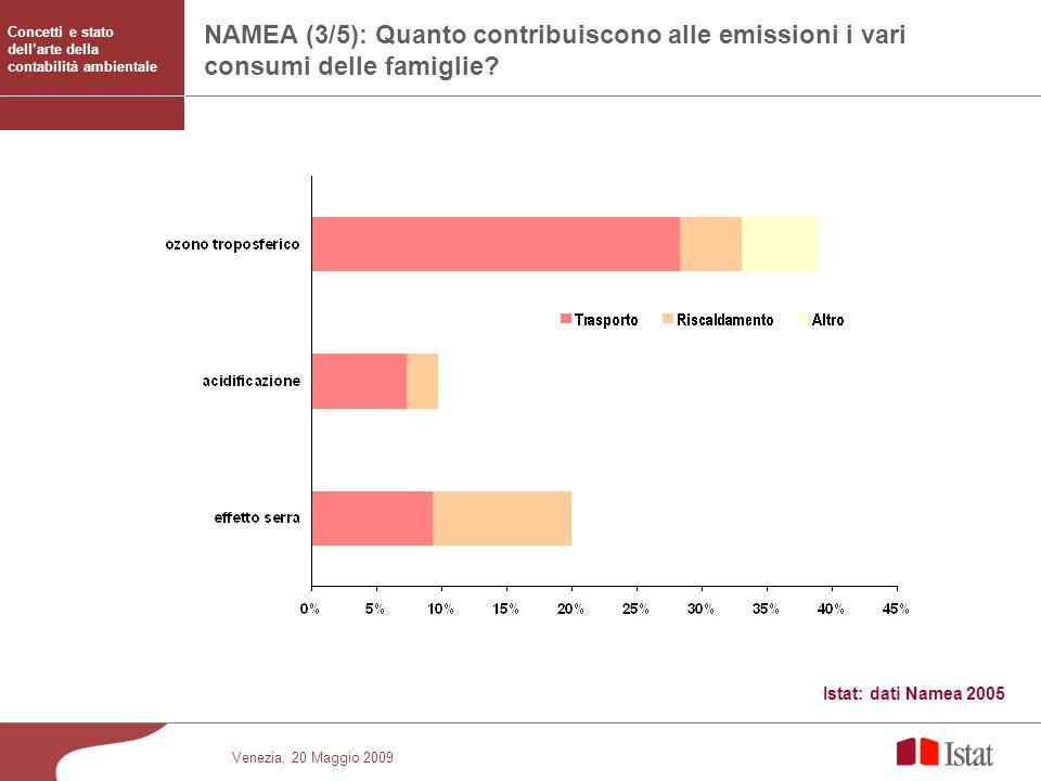 NAMEA (3/5): Quanto contribuiscono alle emissioni i vari consumi delle famiglie