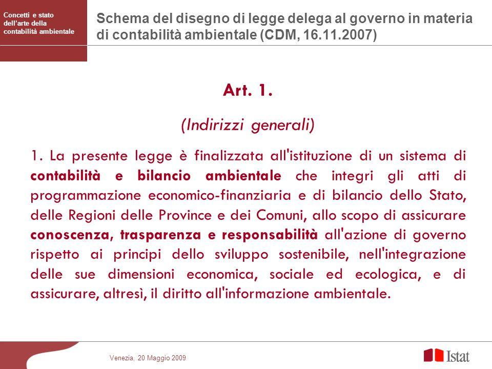 Art. 1. (Indirizzi generali)