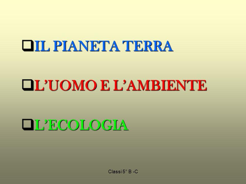 IL PIANETA TERRA L'UOMO E L'AMBIENTE L'ECOLOGIA Classi 5° B -C