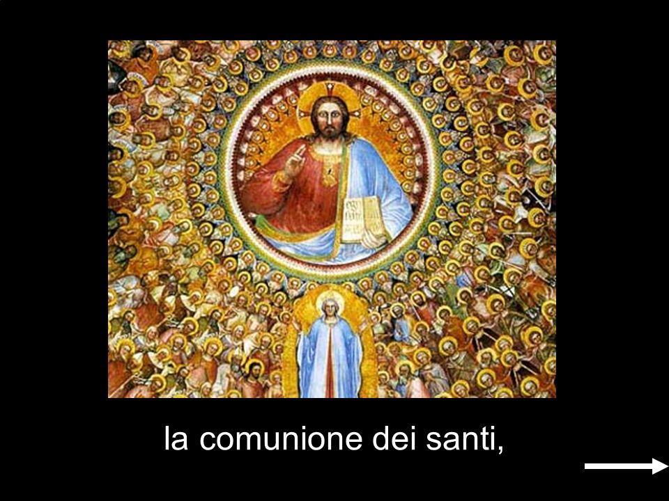 ; la comunione dei santi,