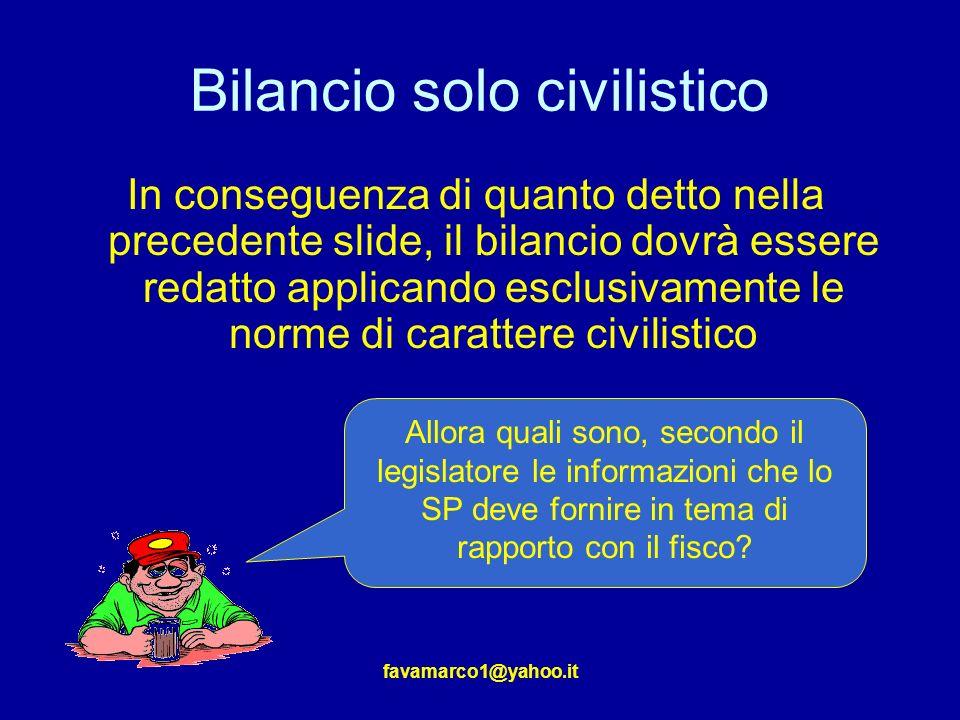 Bilancio solo civilistico