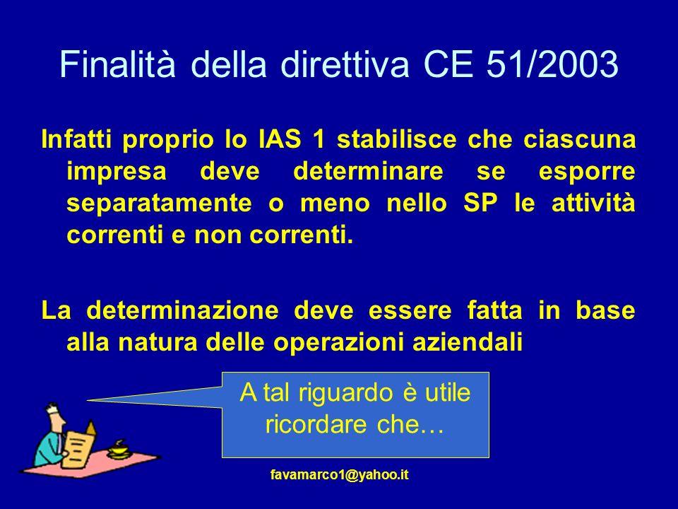 Finalità della direttiva CE 51/2003