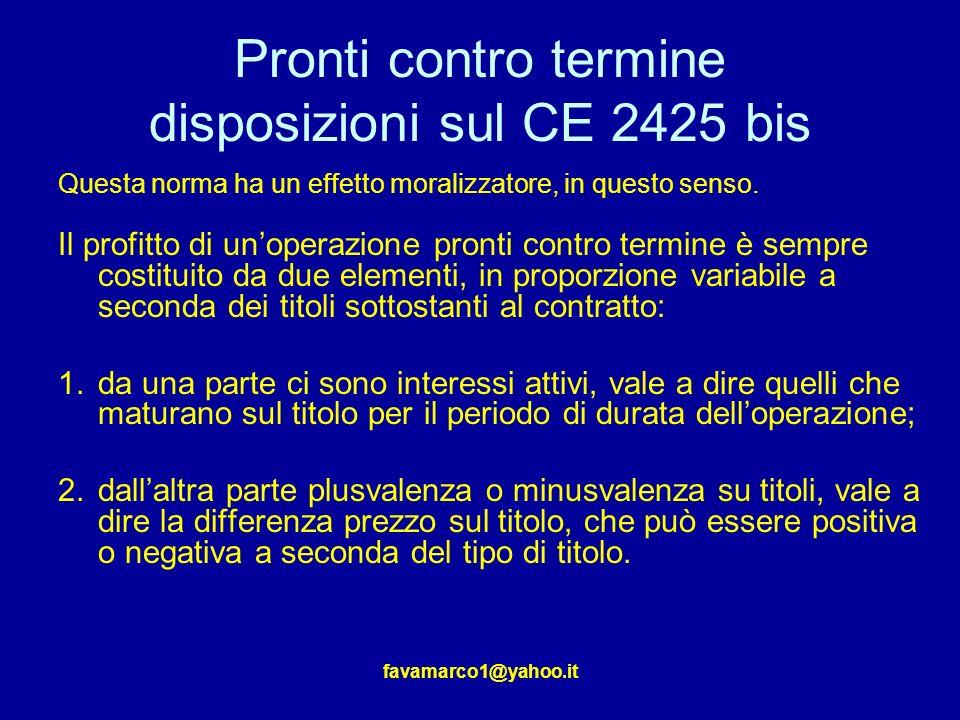 Pronti contro termine disposizioni sul CE 2425 bis