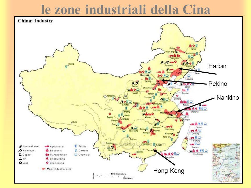 le zone industriali della Cina