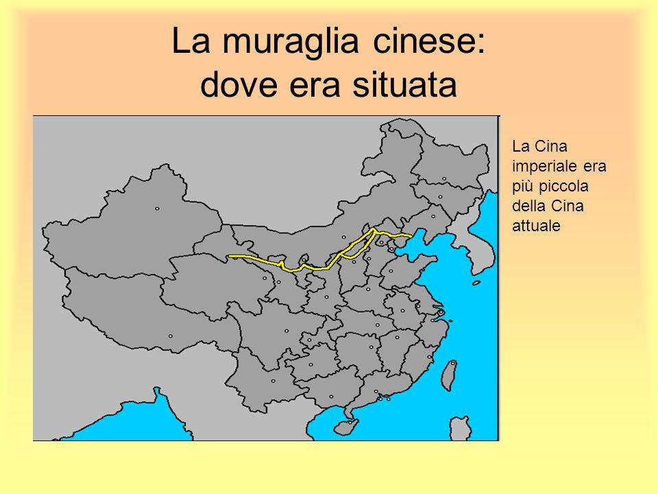 La muraglia cinese: dove era situata