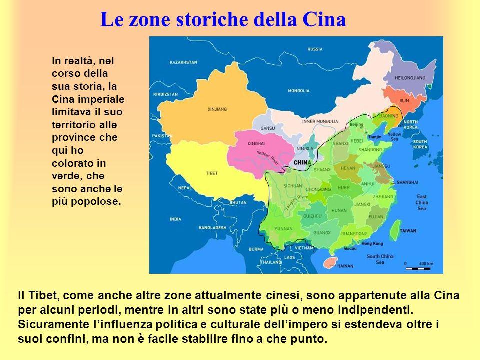 Le zone storiche della Cina