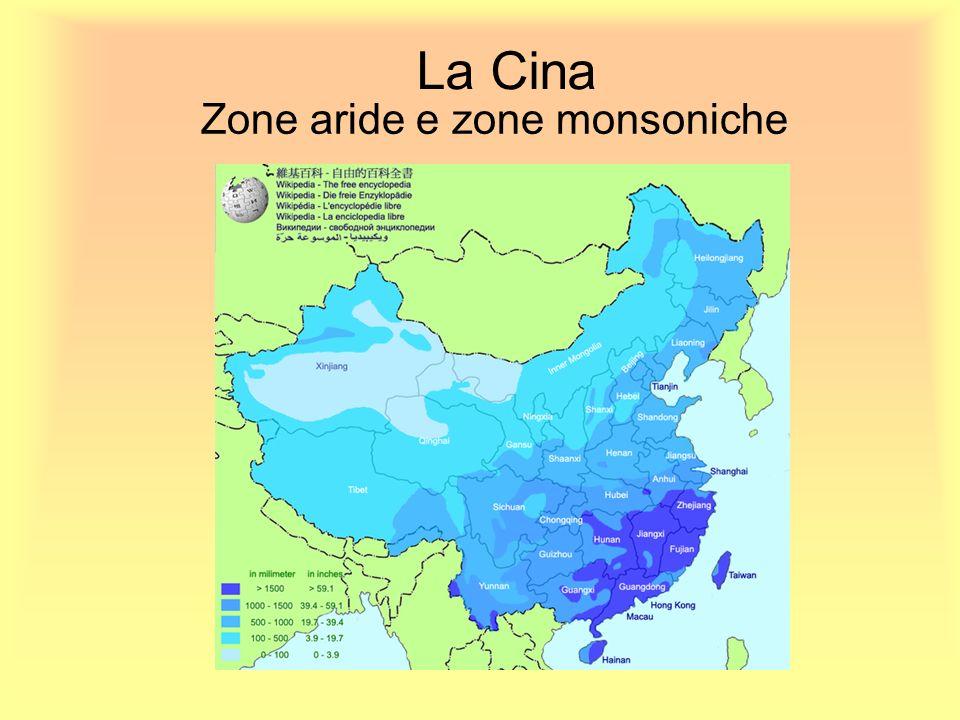 Zone aride e zone monsoniche
