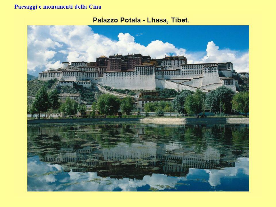 Paesaggi e monumenti della Cina Palazzo Potala - Lhasa, Tibet.