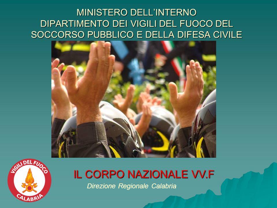 MINISTERO DELL'INTERNO DIPARTIMENTO DEI VIGILI DEL FUOCO DEL SOCCORSO PUBBLICO E DELLA DIFESA CIVILE