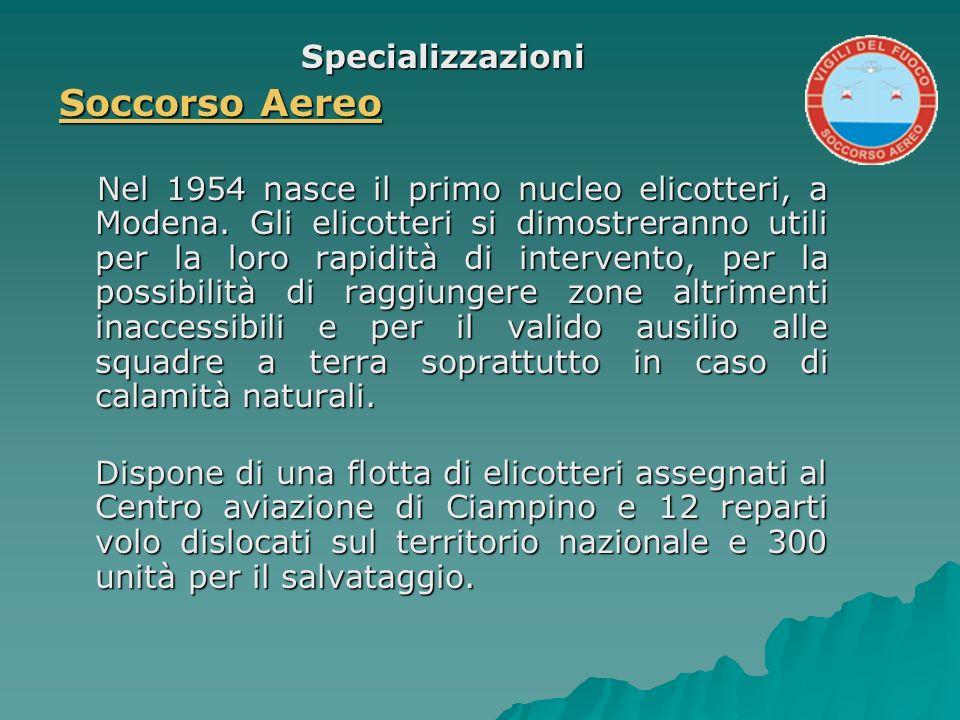 Soccorso Aereo Specializzazioni