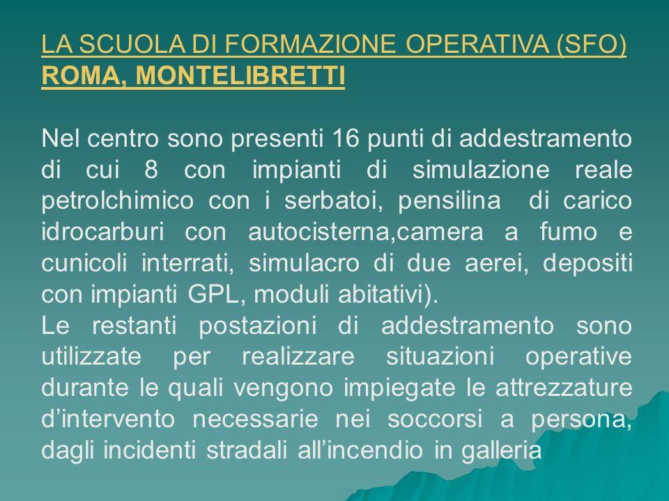 LA SCUOLA DI FORMAZIONE OPERATIVA (SFO) ROMA, MONTELIBRETTI