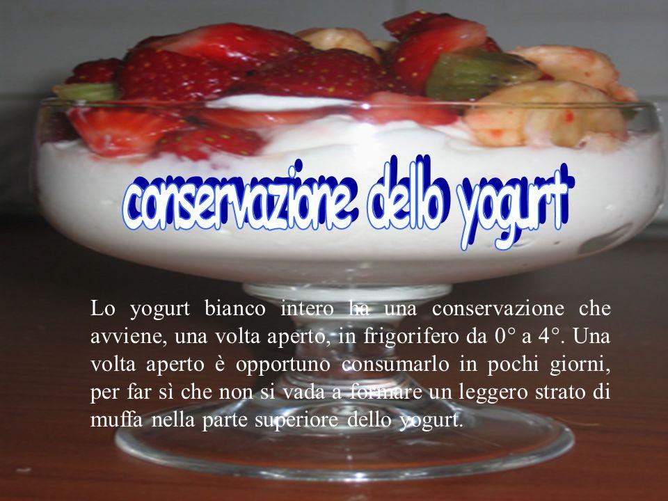 conservazione dello yogurt