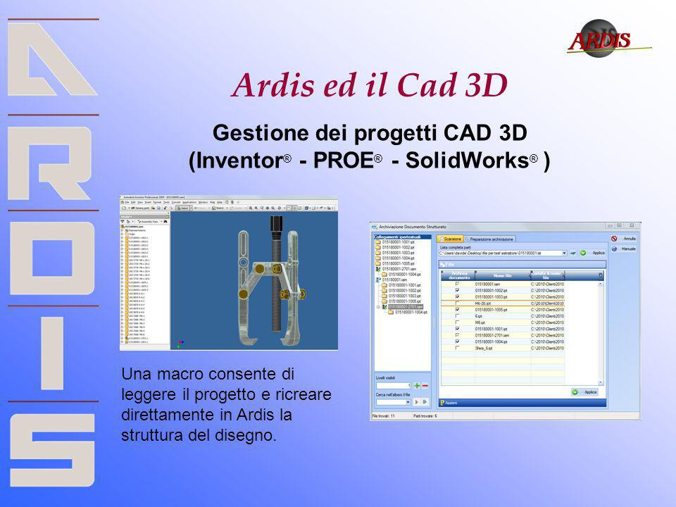 Gestione dei progetti CAD 3D (Inventor® - PROE® - SolidWorks® )