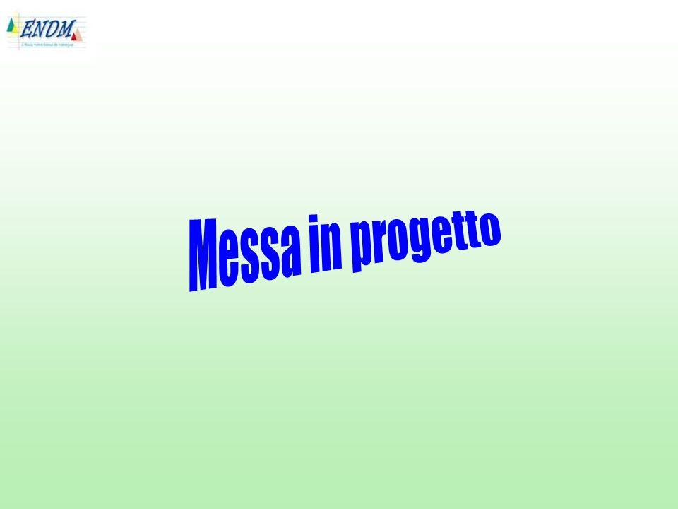 Messa in progetto