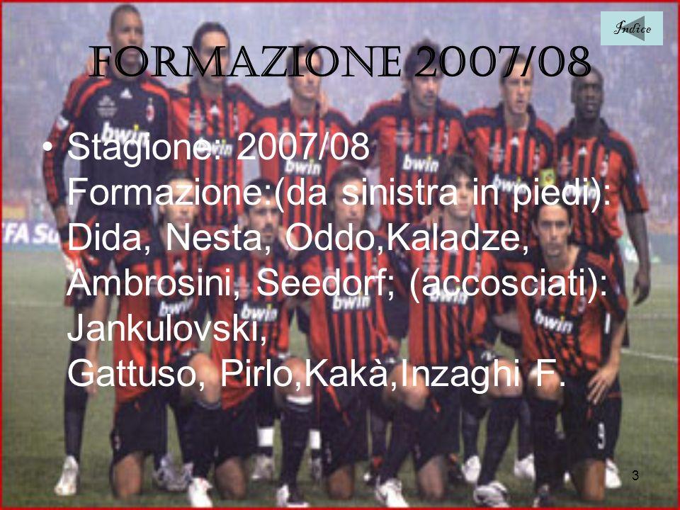 Indice Formazione 2007/08.