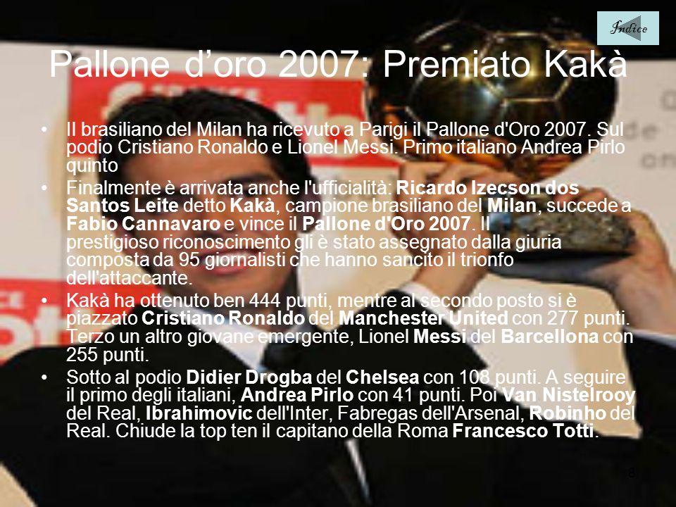 Pallone d'oro 2007: Premiato Kakà