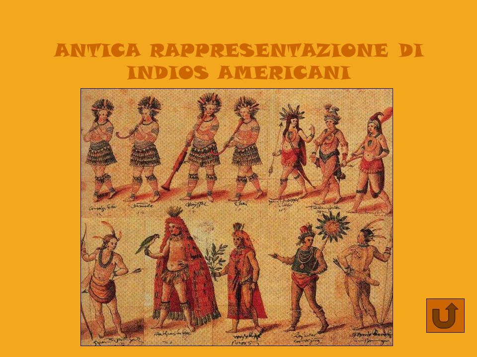 ANTICA RAPPRESENTAZIONE DI INDIOS AMERICANI