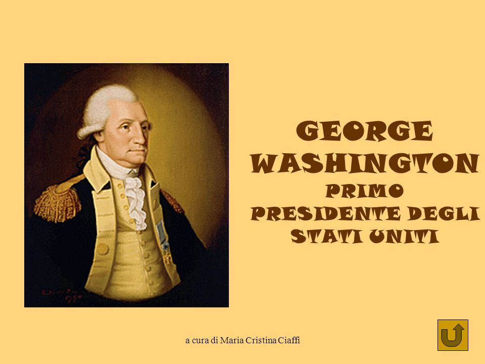 GEORGE WASHINGTON PRIMO PRESIDENTE DEGLI STATI UNITI