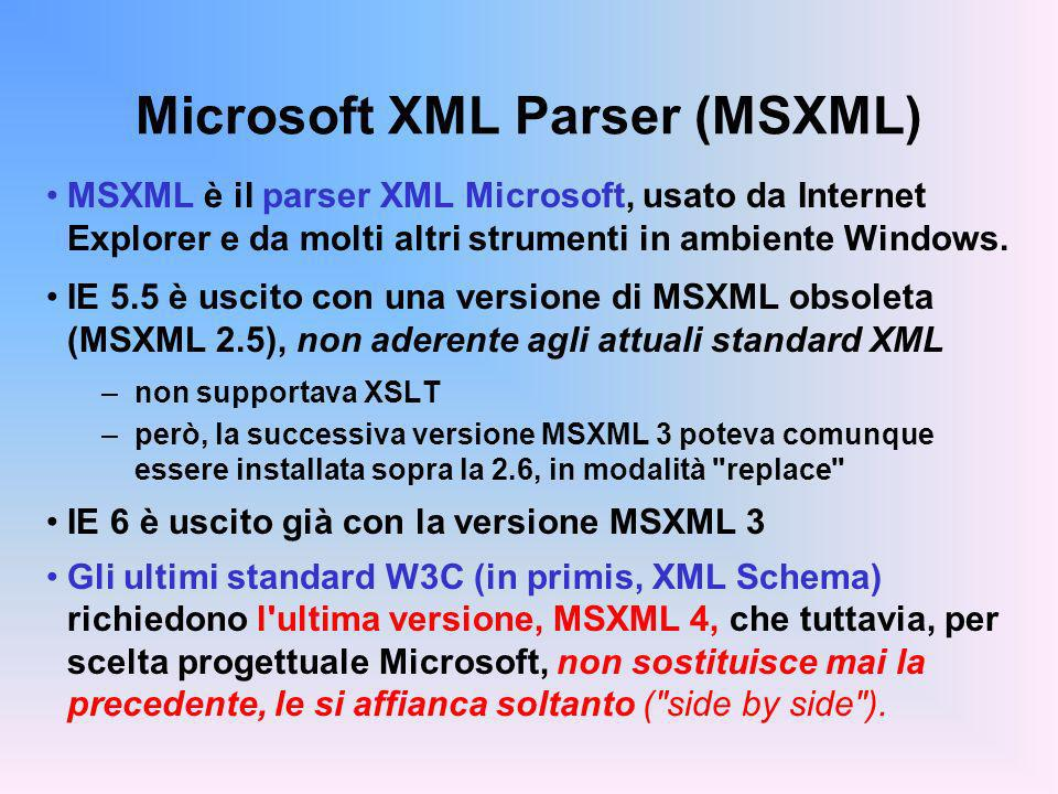Microsoft XML Parser (MSXML)