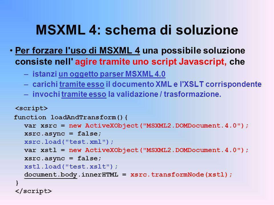 MSXML 4: schema di soluzione
