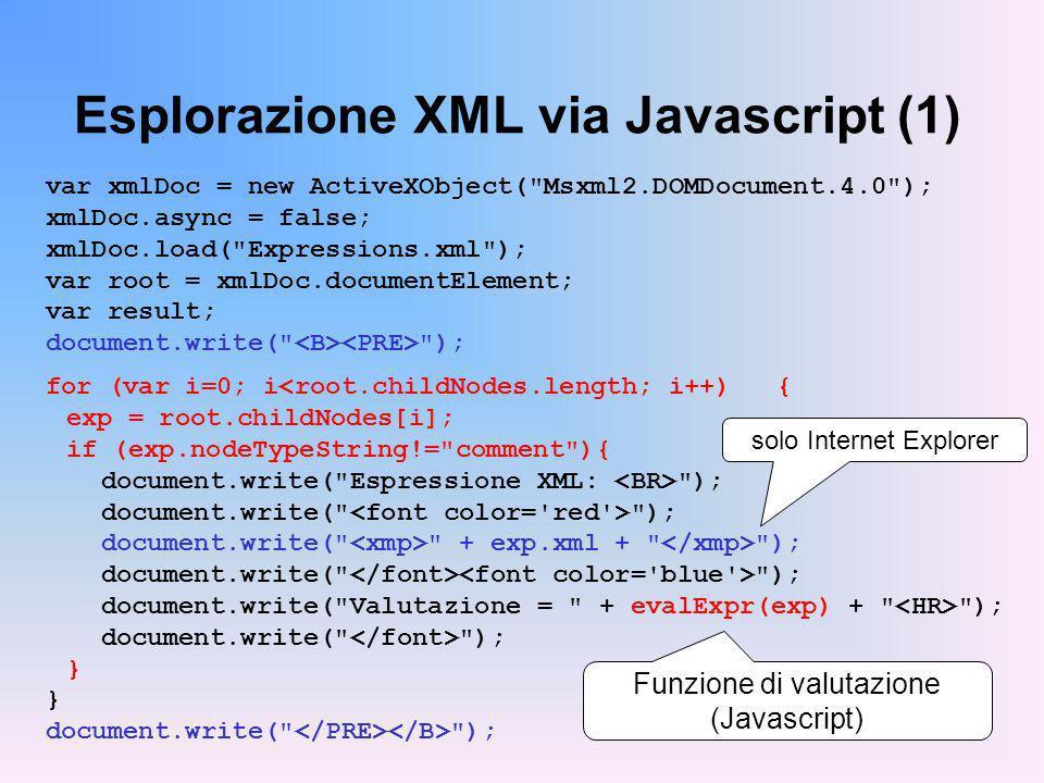 Esplorazione XML via Javascript (1)