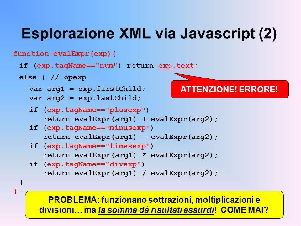 Esplorazione XML via Javascript (2)