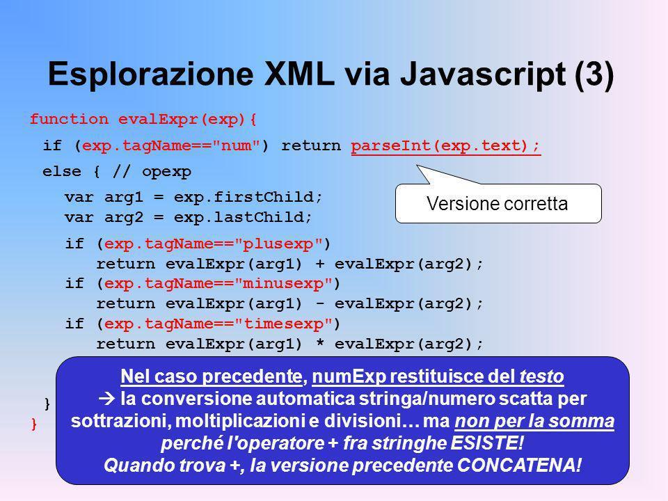 Esplorazione XML via Javascript (3)