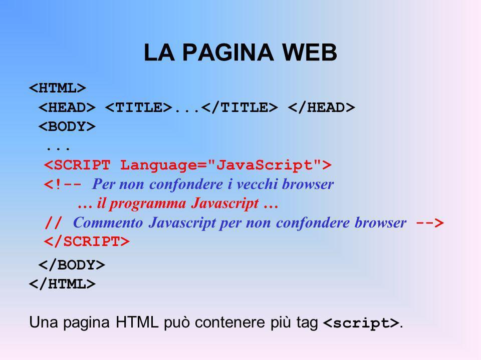 LA PAGINA WEB <HTML>