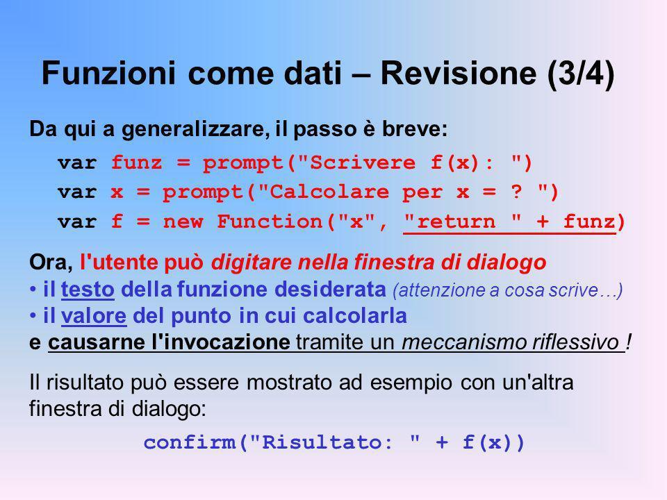 Funzioni come dati – Revisione (3/4)